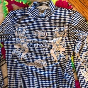 Super cool NWOT checkered long sleeve top size S